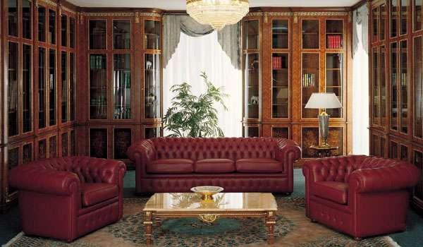 Элитный диван из кожи Danton. Фабрика Asnaghi Interiors. Италия
