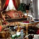 Прямой диван с золотой патиной Poria. Asnaghi Interiors
