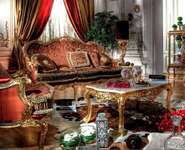 Купить Прямой диван с золотой патиной Poria от Asnaghi Interiors