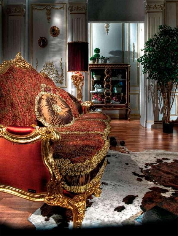 Прямой диван в классическом стиле Poria