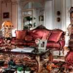 Королевский диван в классическом стиле Castore Asnaghi Interiors. Италия