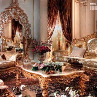 Итальянский диван с золотой патиной Celsious от производителя ASNAGHI INTERIORS