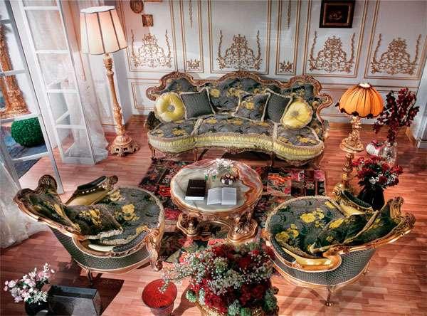 Шикарный диван Faby на ножках от производителя Asnaghi Interiors