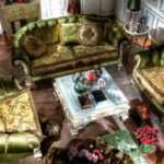 Диван Flowny в изысканном классическом стиле зеленого цвета. ASNAGHI INTERIORS
