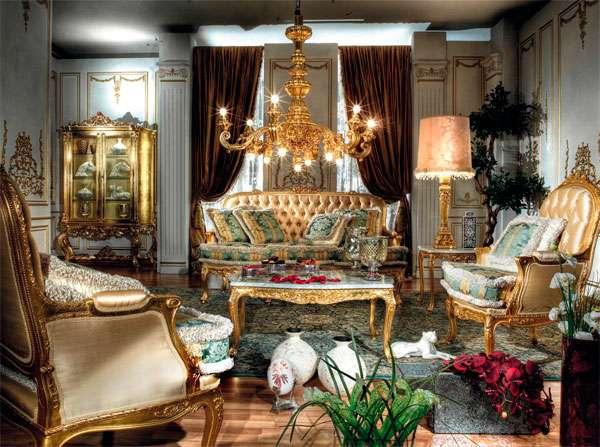 Итальянский золотой диван Luretina