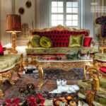 Классический красный диван Leduc. Фабрика Asnaghi Interiors