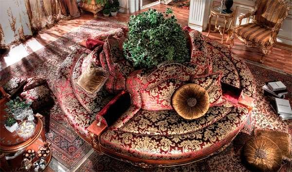 диван круговой формы torande