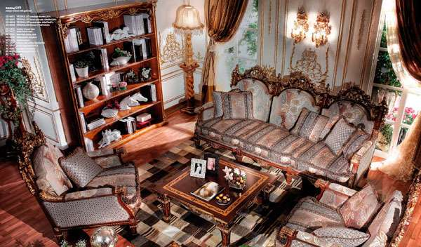 Диван в стиле Барокко Versailles ASNAGHI INTERIORS