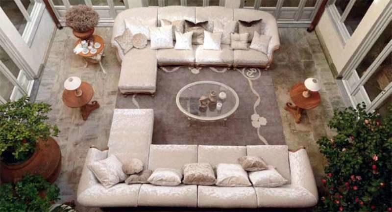 Большой комплект мягких угловых диванов AMBIENTE GIORNO. Савио Фермини. Италия