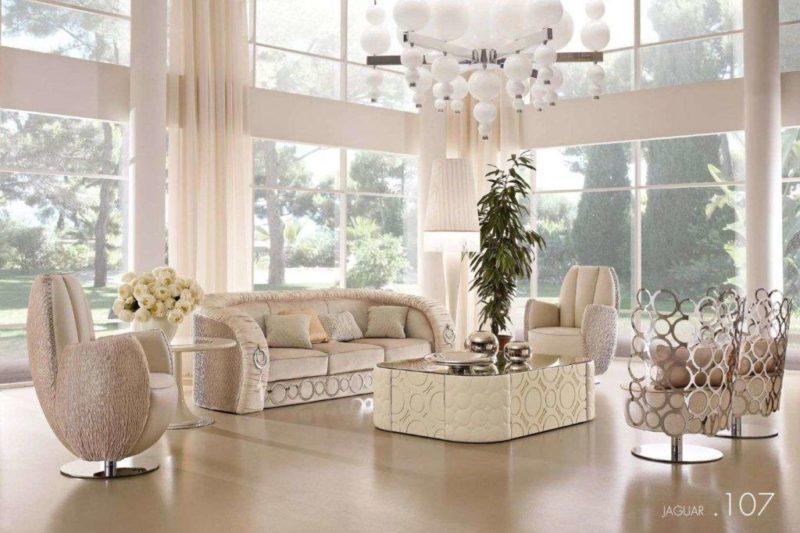 Дорогой элитный диван в гостиную комнату в стиле Ар-деко