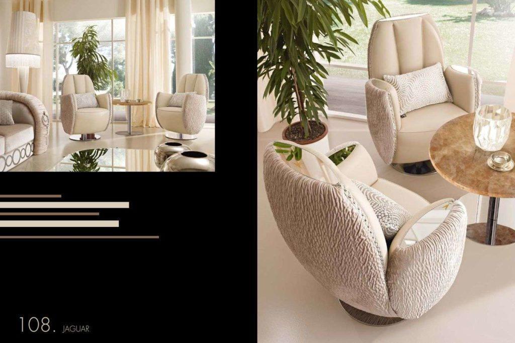 Мягкие кресла в комплект мебели Ягуар. Альта Мода.