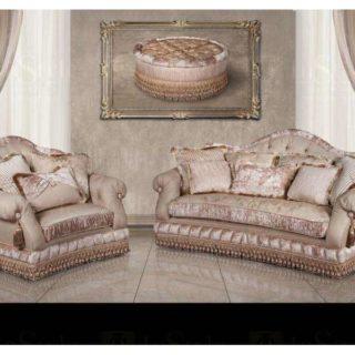 Светлый элитный диван с креслами Джулия. Америка.