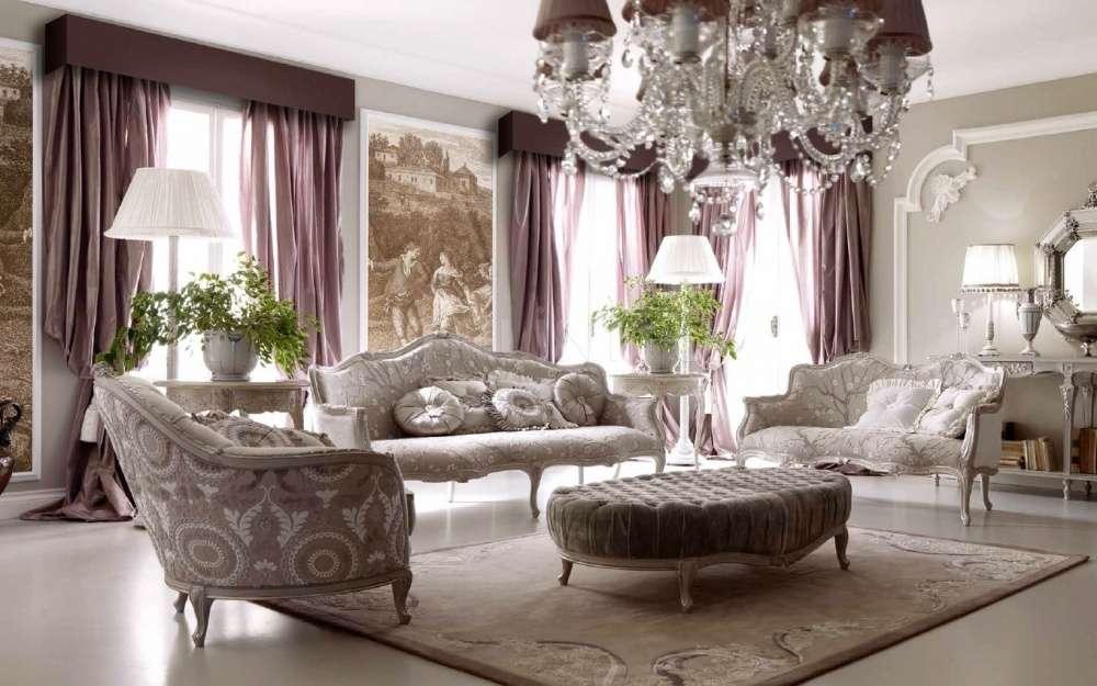 Белая элитная классическая мягкая мебель Амбиетте Джорно. Диван 3143