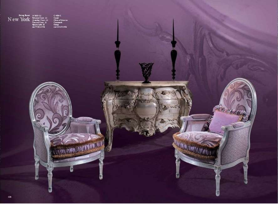 Классические кресла в стиле барокко Нью Йорк