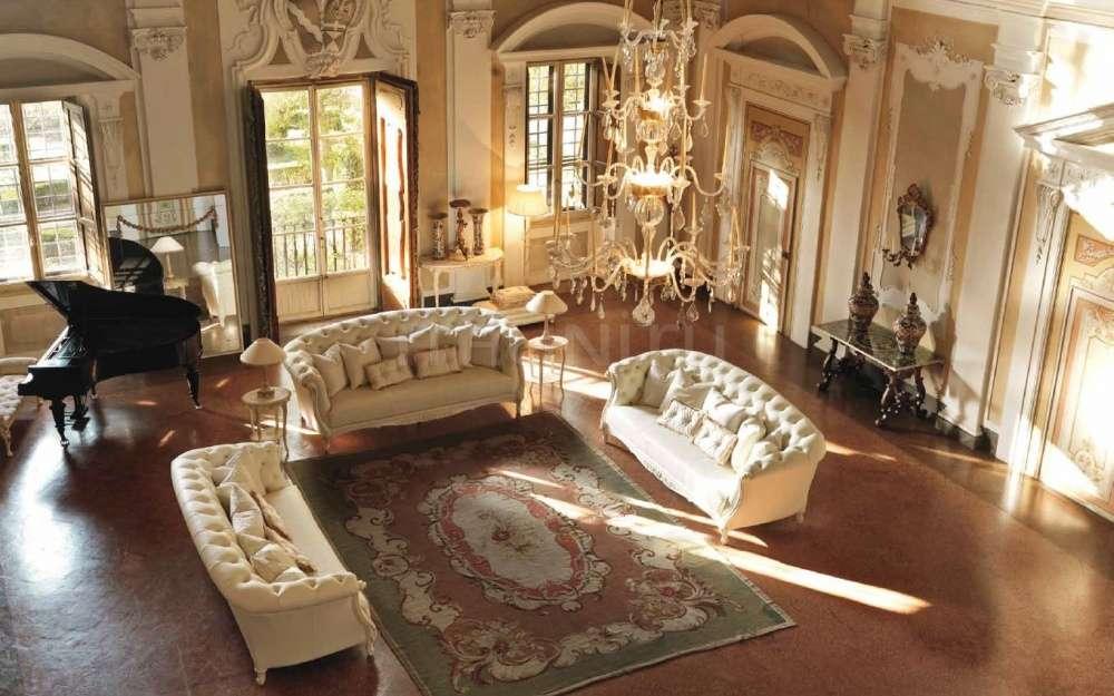 Элитная итальянская белая дорогая мягкая мебель 3121 SAVIO FIRMINO в гостиную