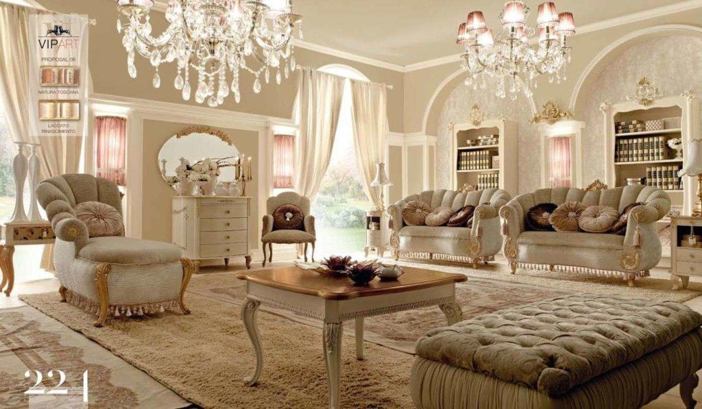 Дорогая коллекция белой элитной мебели Вип Арт