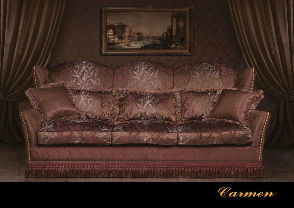 Элитный красивый дорогой бордовый диван Кармен