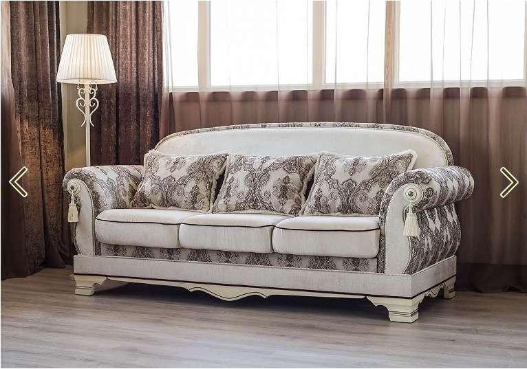 Белый классический раскладной диван Шейх