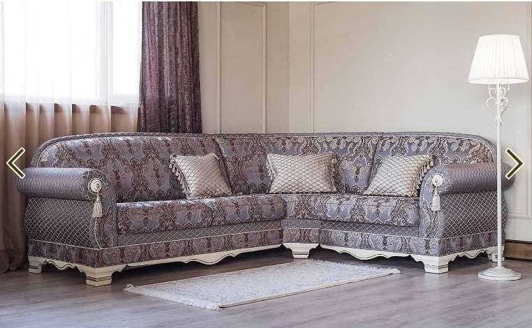 Дорогой большой угловой диван Шейх в классическом стиле