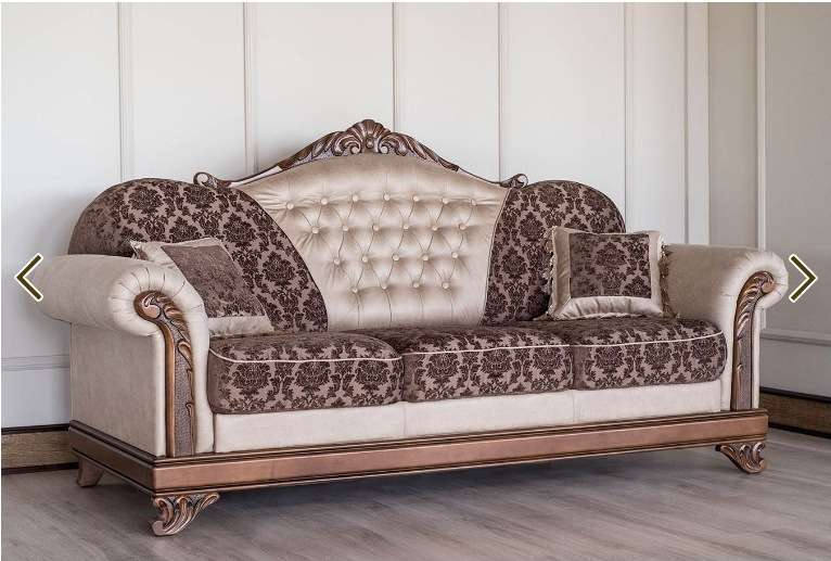 Классический коричневый диван Танго