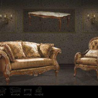 Классический коричневый диван с креслами Нью Йорк. Америка.