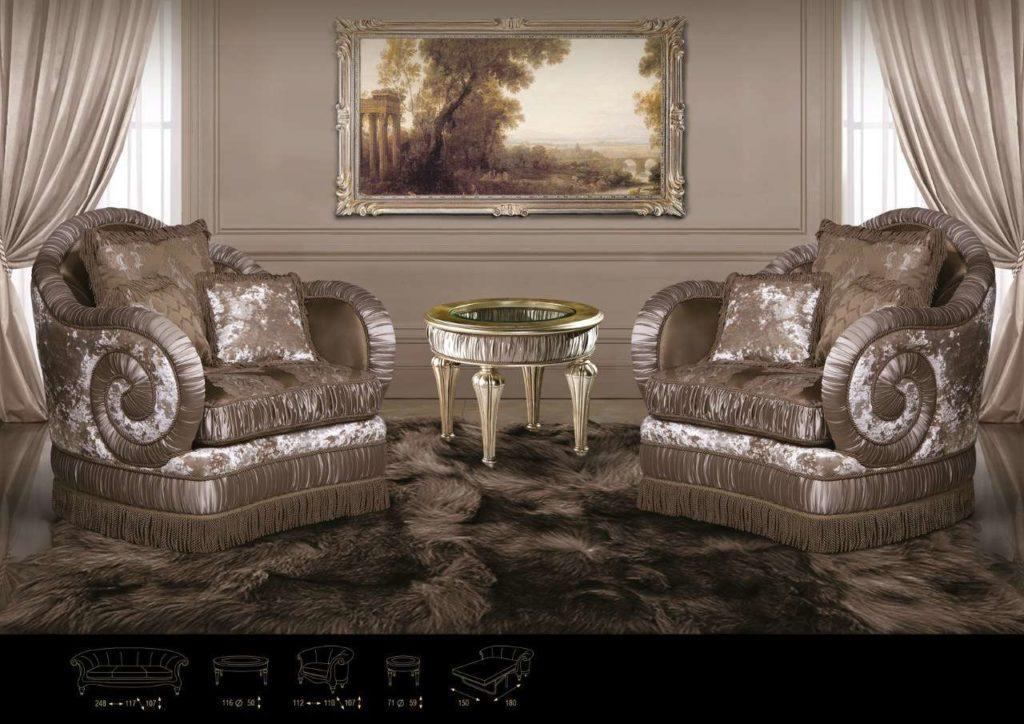 Кресла Юпитер с драпировкой.
