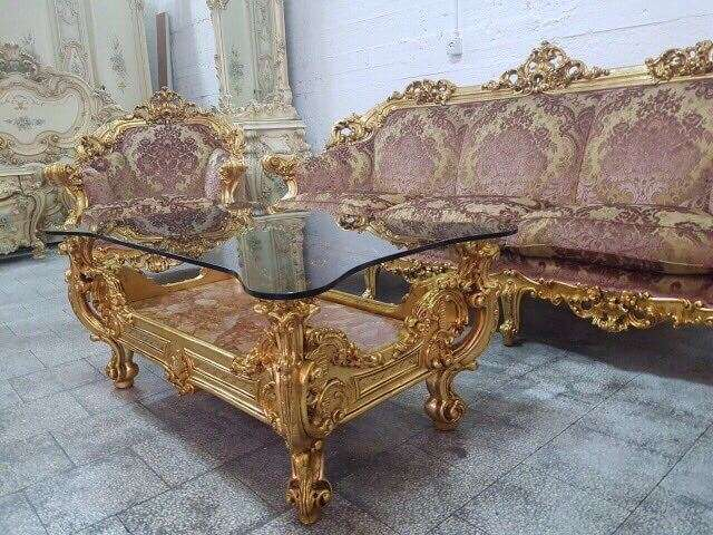 Фото мебели Силик в стиле Барокко в золоте www.divanos.com.ua