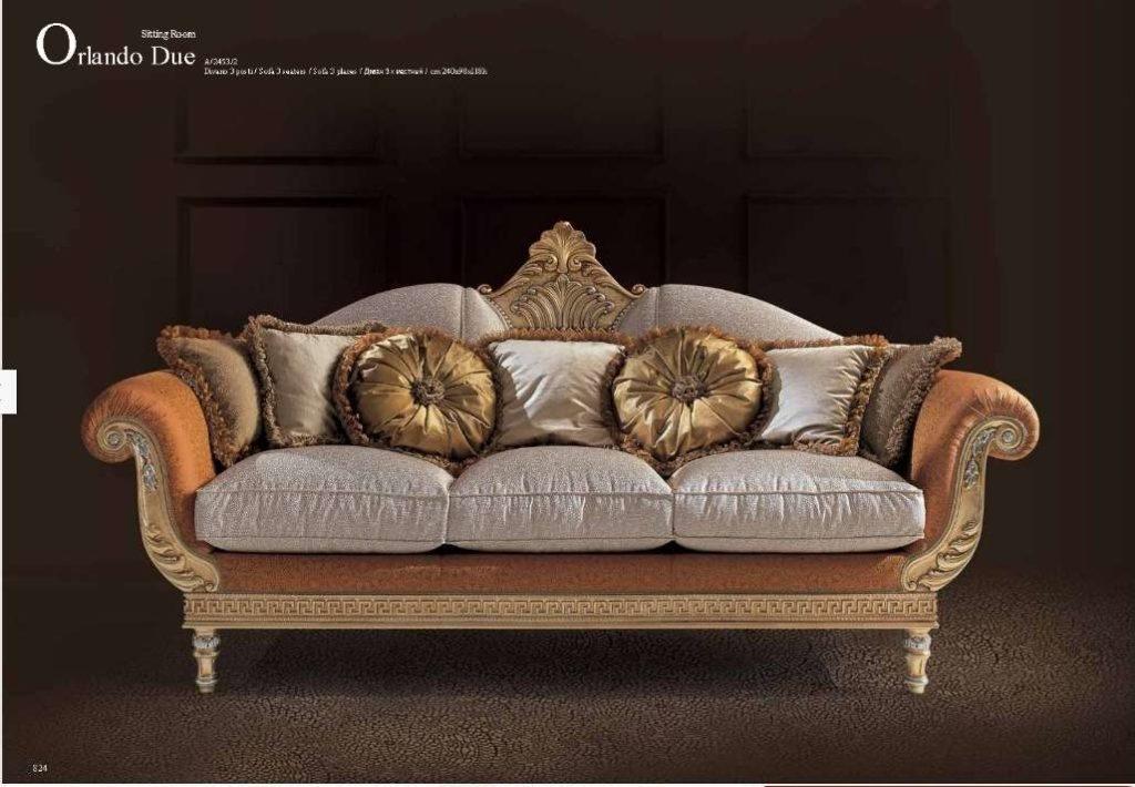 Трехместный классический диван Орландо.