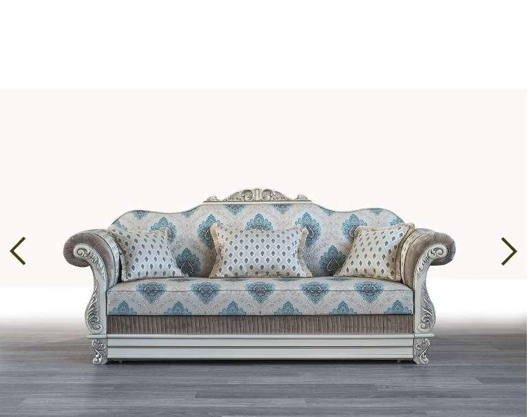 Белый классический диван Барон.
