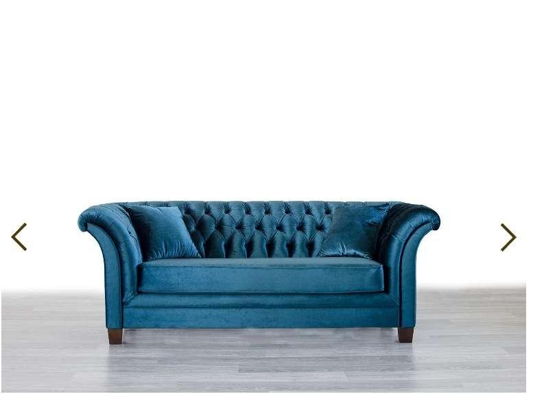 Дорогой прямой диван в стиля Арт-Деко Оскар.