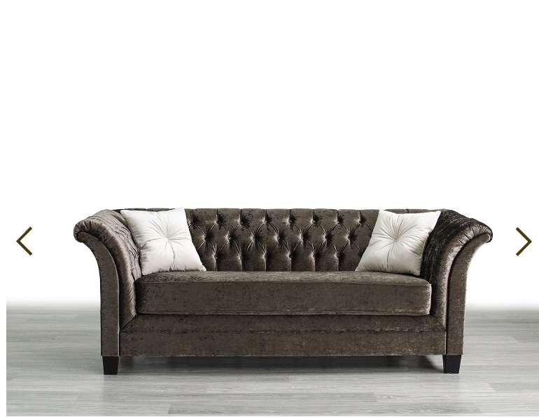 Коричневый диван в стиле модерн Оскар.