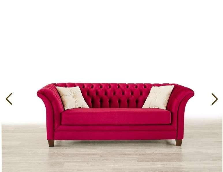 Красный диван в стиле Арт-Деко. Украина.
