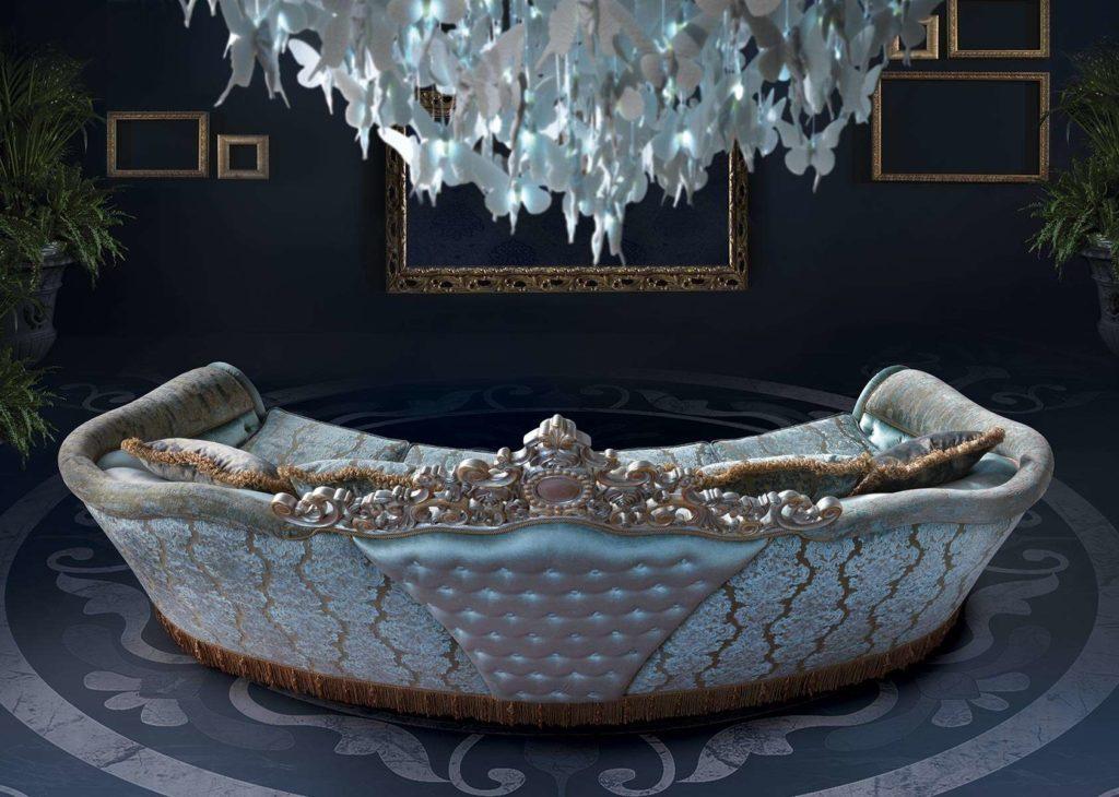 Отделка дивана Bijoux