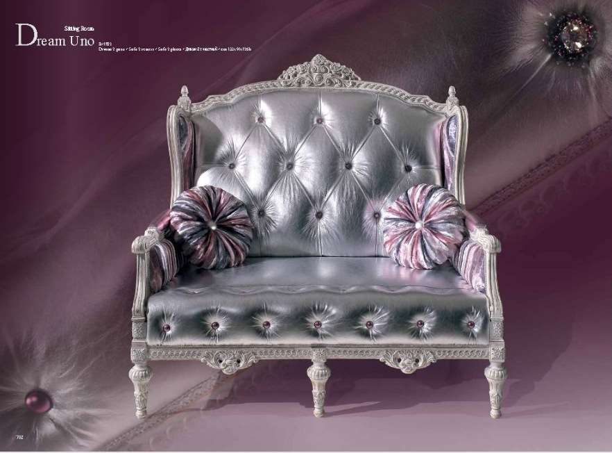 Небольшой элегантный классический диванчик в стиле барокко Дрим.