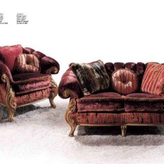 Классический бордовый диван Империал вип-класса. Италия