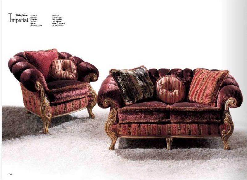 Элитный диван бордового цвета Империал.