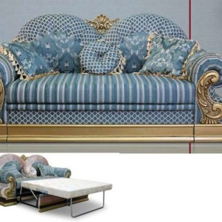 Классический раскладной диван Султан с позолотой.