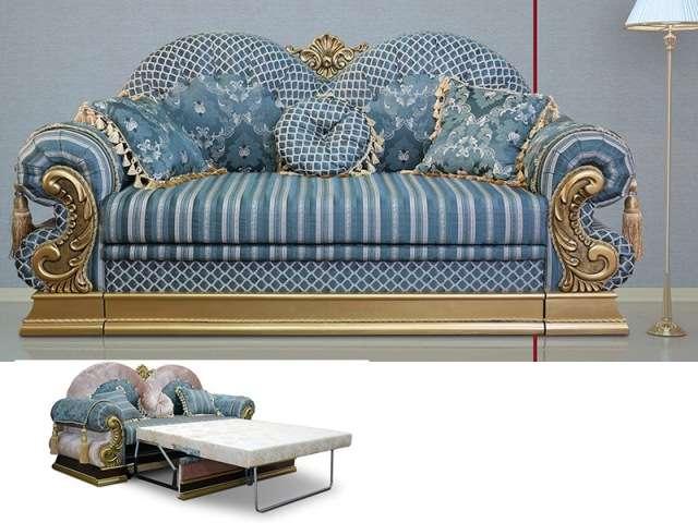 Двухместный раскладной диван Султан с золотом.