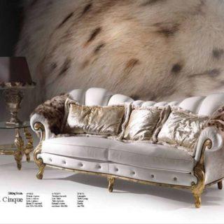 Большой  белый радиусный диван Диамант. Италия.