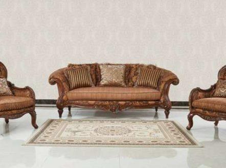 Маэстро - классический коричневый диван с желтой обивкой