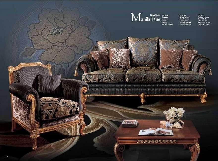 Дорогой эксклюзивный мягкий мебельный гарнитур Манилла