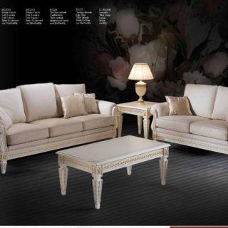 Элитный итальянский белый диван с золотом Маями.