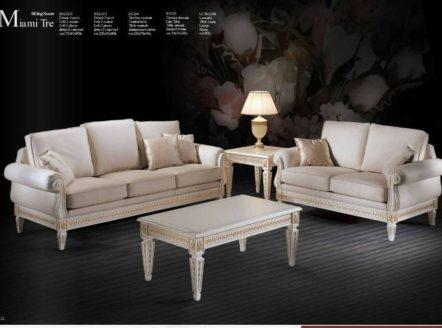 Дорогой элитный белый классический диван Маями. Италия.