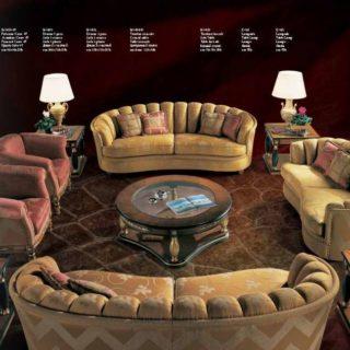Комплект классических радиусных диванов Найроби