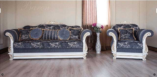 Классический диван в стиле барокко Барон из закарпатского бука.