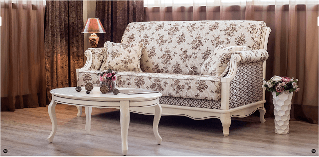 Классический белый прямой диван Палермо. Украина.Львов