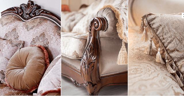 Отделка и ткани для дивана Империя