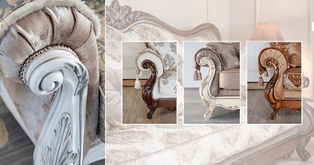 Резные элементы мебели для дивана Империя.
