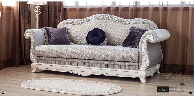 Большой раскладной диван Лилея в классическом стиле.
