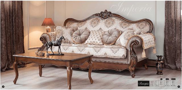 Классический диван Империя от производителя Мебус